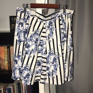Floral Striped Skirt